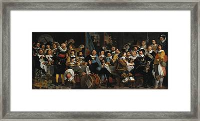 Banquet Of The Amsterdam Civic Guard In Celebration Of The Peace Of Munster Framed Print