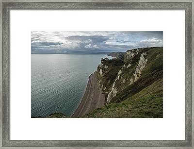 Banscombe Beach From Beer Head Framed Print by Pete Hemington