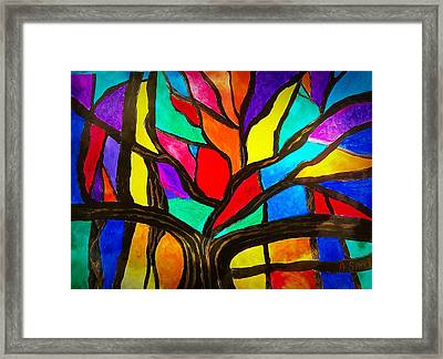 Banyan Tree Abstract Framed Print
