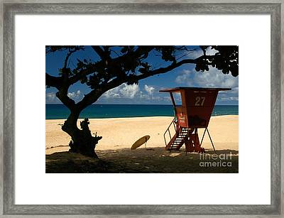 Banzai Beach Framed Print