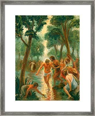Baptism Of Christ Framed Print by Paul Rhoads