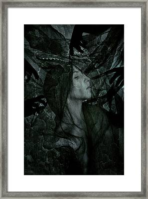Baptism Of The Black Flame Framed Print