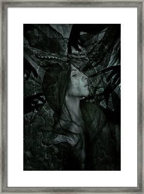 Baptism Of The Black Flame Framed Print
