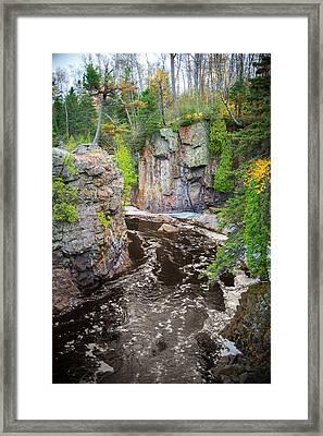 Baptism River In Tettegouche State Park Mn Framed Print