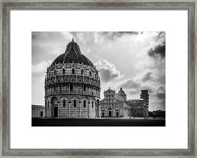 Baptistry Of St. John, Cattedrale Di Pisa, Leaning Tower Of Pisa, Italy Framed Print by Chris Coffee