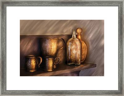 Bar - Implements Of Whiskey  Framed Print by Mike Savad