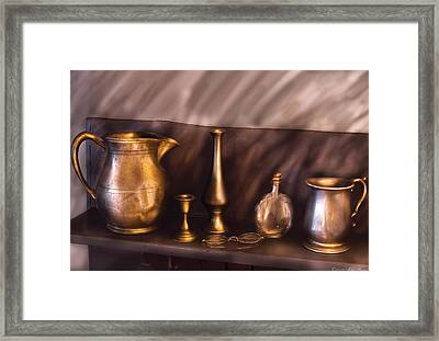 Bar - Ready For A Drink Framed Print by Mike Savad