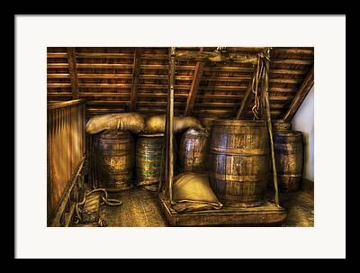 Restaurant Wine Barrel Art Work Framed Prints
