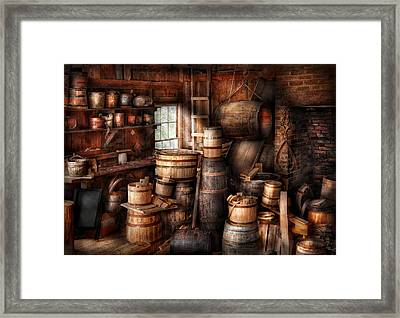 Bar - Wine Maker - Just Add Wine  Framed Print by Mike Savad