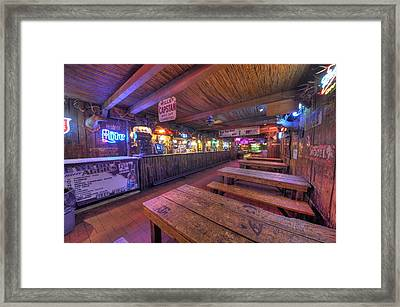 Bar At The Dixie Chicken Framed Print by David Morefield