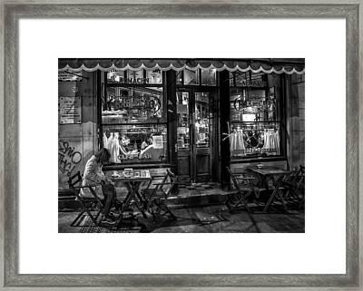Bar De Cao Buenos Aires Framed Print by Hans Wolfgang Muller Leg