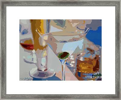 Bar Drinks Framed Print by David Lloyd Glover
