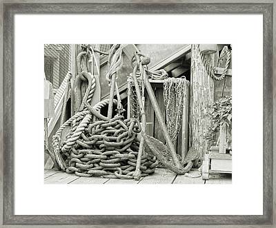 Bar Harbor Anchors Away Framed Print by Betsy Knapp