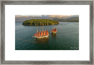 Framed Print featuring the photograph Sailing Thru Life The Downeast Way by Michael Hughes