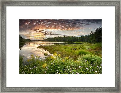 Framed Print featuring the photograph Bar Harbor Maine Sunset One by Kevin Blackburn