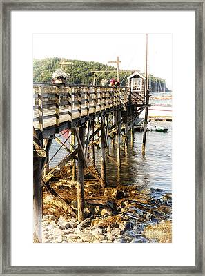 Bar Harbor Pier Framed Print