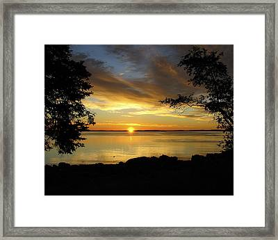Bar Harbor Sunrise 1 Framed Print