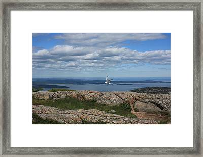 Bar Harbor View From Cadillac Framed Print