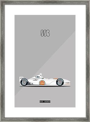 Bar Honda 003 F1 Poster Framed Print