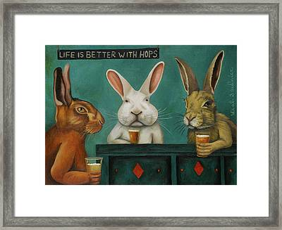 Bar Hopping Framed Print