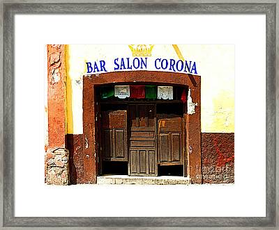 Bar Salon Corona Framed Print