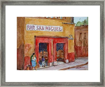 Bar San Miguel 2 Framed Print by Jerald Peterson