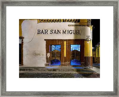 Bar San Miguel Framed Print by Whitman White