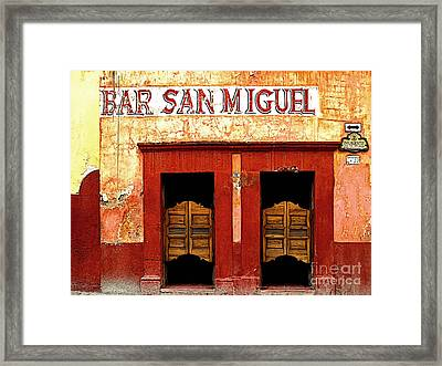 Bar San Miguel Framed Print by Mexicolors Art Photography