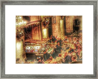 Framed Print featuring the photograph Bar Scene by Marianne Dow