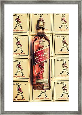Bar Wall Art. Old Johnnie Walker Red Label Framed Print by Jorgo Photography - Wall Art Gallery
