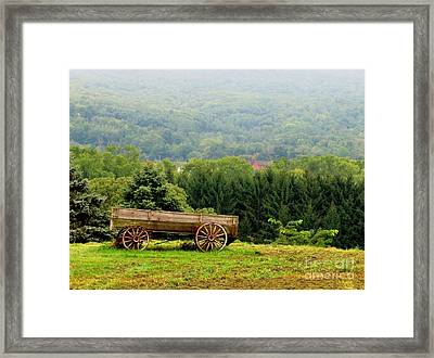 Baraboo Hillside Framed Print by Marilyn Smith