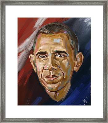 Barack Framed Print by Arie Van der Wijst