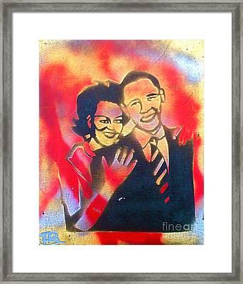 Barack Black Love Framed Print