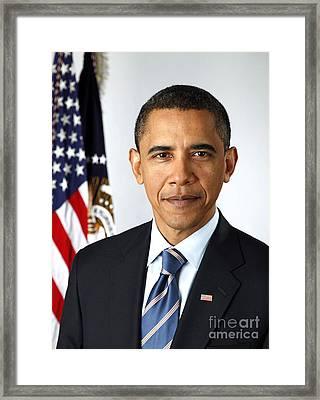 Barack Obama (1961- ) Framed Print by Granger
