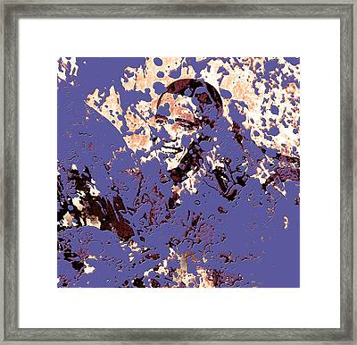 Barack Obama 44a Framed Print