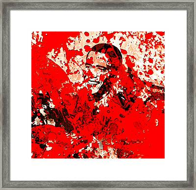 Barack Obama 44b Framed Print