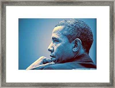Barack Obama At White House 1 Framed Print