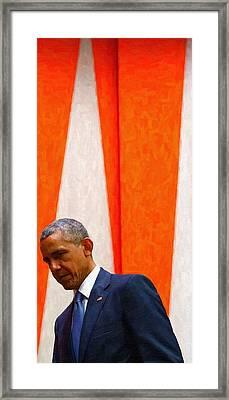 Barack Obama At White House 6 Framed Print