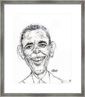 Barack Obama Framed Print by Cameron Hampton PSA