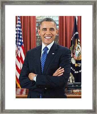 Barack Obama Framed Print by Celestial Images