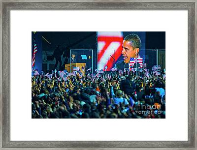 Barack Obama Grant Park, Chicago 11.4.08 Framed Print by Vito Palmisano