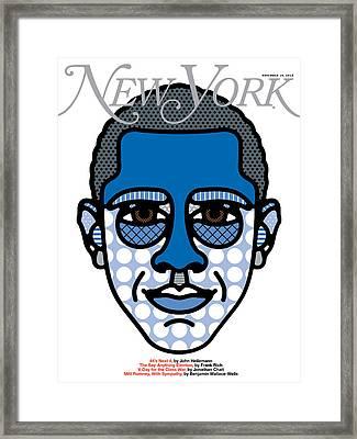Barack Obama Is Reelected Framed Print