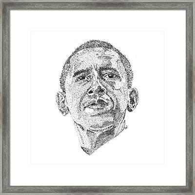 Barack Obama Framed Print by Marcus Price