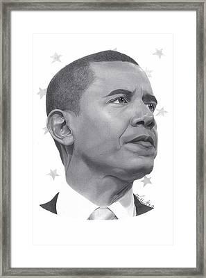 Barack Obama Framed Print