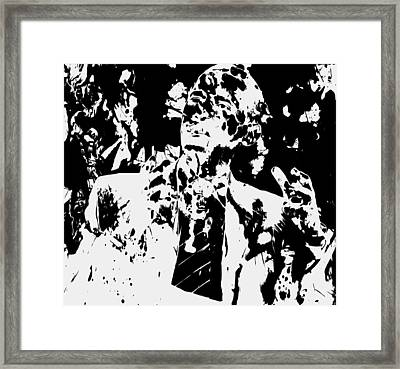Barack Obama Paint Splatter 4b Framed Print by Brian Reaves