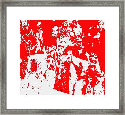 Barack Obama Paint Splatter 4d Framed Print by Brian Reaves