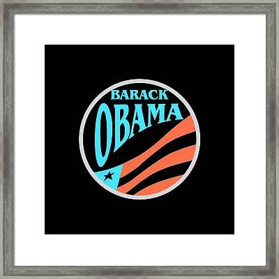 Barack Obama - Tshirt Design Framed Print by Art America Gallery Peter Potter