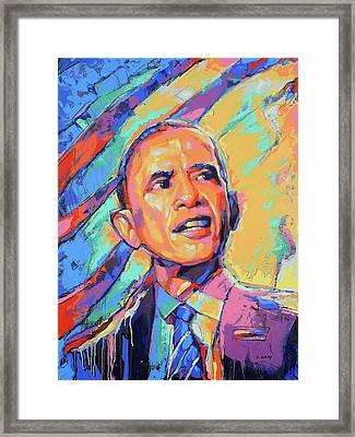 Barack Obama - Pop Art - American Icon Framed Print by Damon Gray