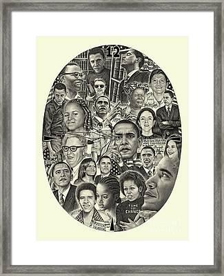 Barack Obama- Time For Change Framed Print