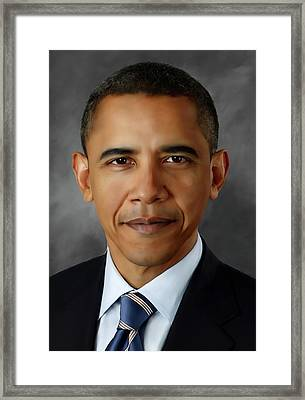 Barack Obhama Framed Print